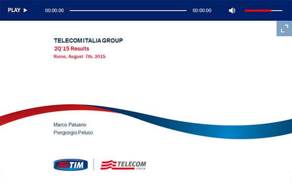 Telecom Italia – 2Q 2015 Results