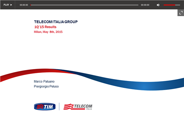 Telecom Italia – 1Q 2015 Results