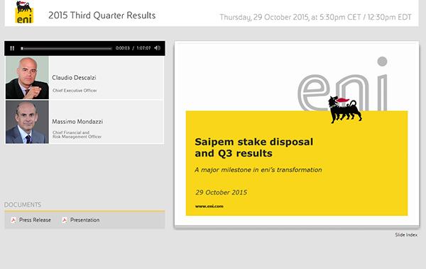 2015 Third Quarter Results