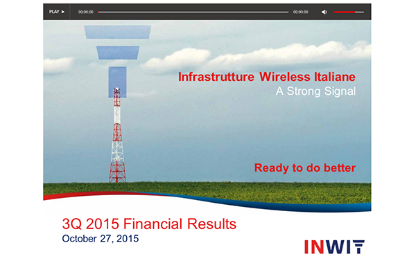 INWIT – 3Q 2015 Results