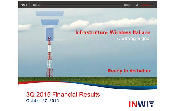 INWIT – 3Q 2015 Results