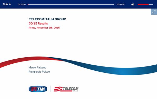 Telecom Italia – 3Q 2015 Results