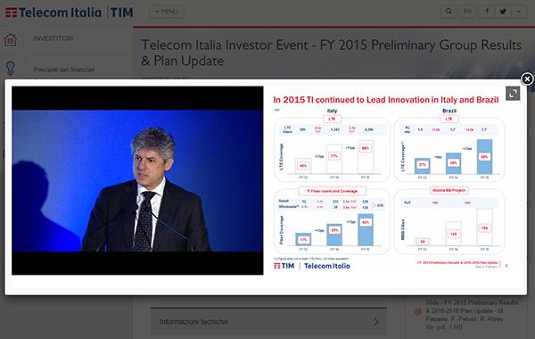 Telecom Italia Investor Event