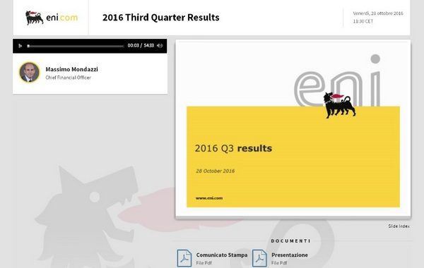 2016 Third Quarter Results