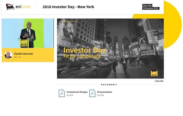 Investor Day 2016 – New York