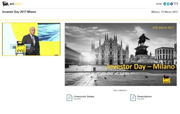 INVESTOR DAY 2017 – MILANO