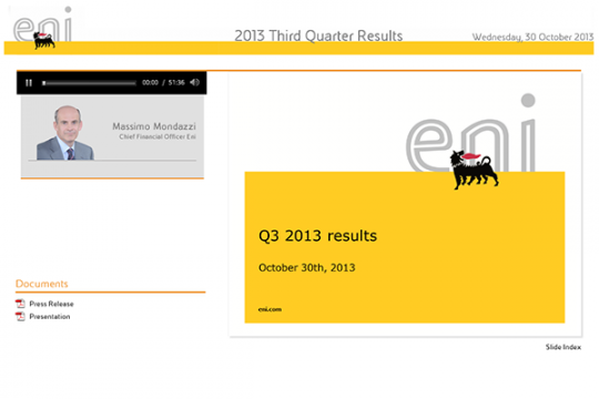 2013 Third Quarter Results