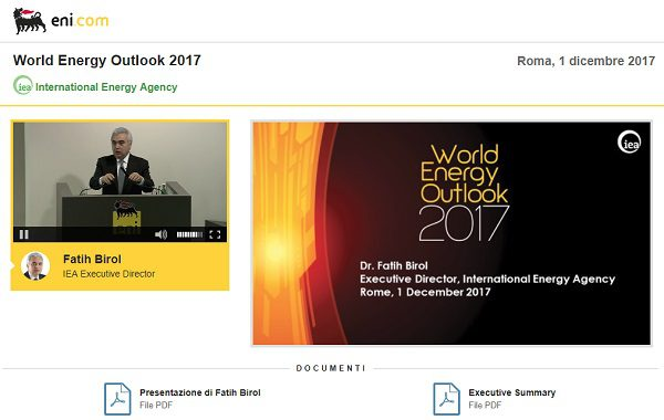 World Energy Outlook 2017