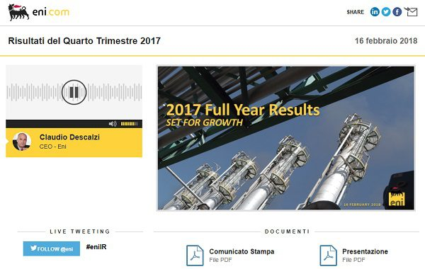 2017 Fourth Quarter Results and Full Year