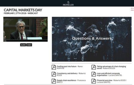 Moncler Capital Markets Days 2018