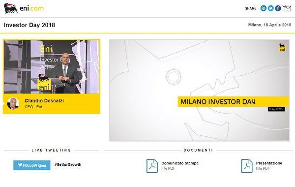 Investor Day 2018 – Milano