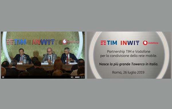 Conferenza stampa INWIT, TIM e Vodafone