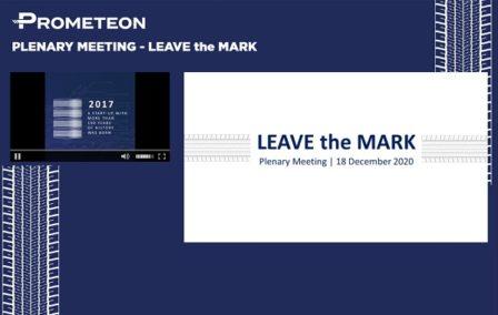 Plenary Meeting – LEAVE the MARK